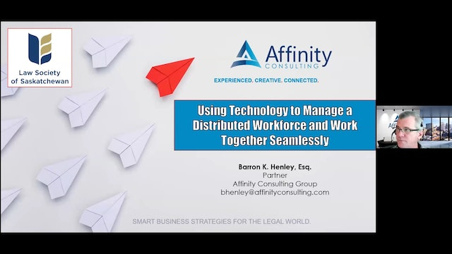 CPD 294 - Using Technology to Manage a Distributed Workforce