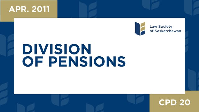 CPD 20 - Division of Pensions