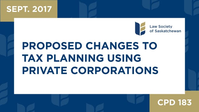 CPD 183 - Proposed Changes to Tax Pla...