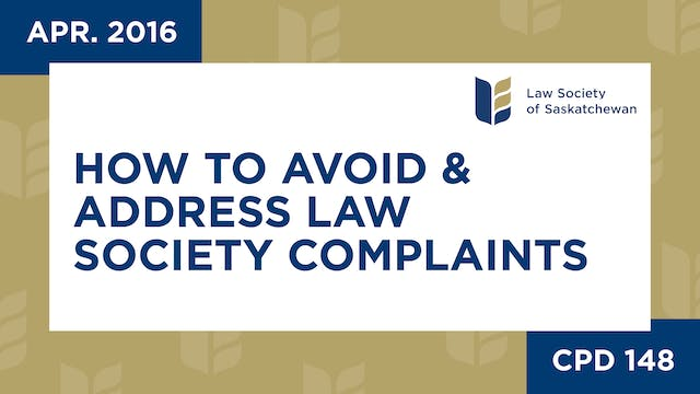 CPD 148 - How to Avoid and Address La...
