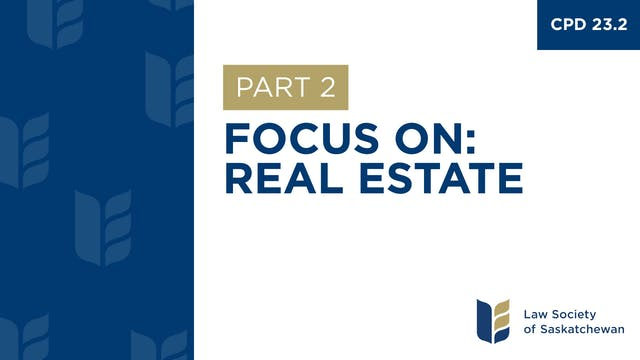 CPD 23 - Focus on Real Estate (Part 2)