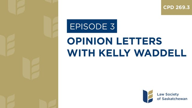 [E3] Kelly Waddell -  Opinion Letters...
