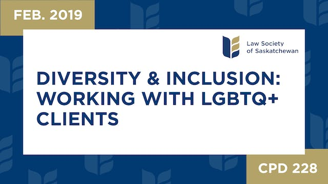 CPD 228 - Diversity and Inclusion Wor...