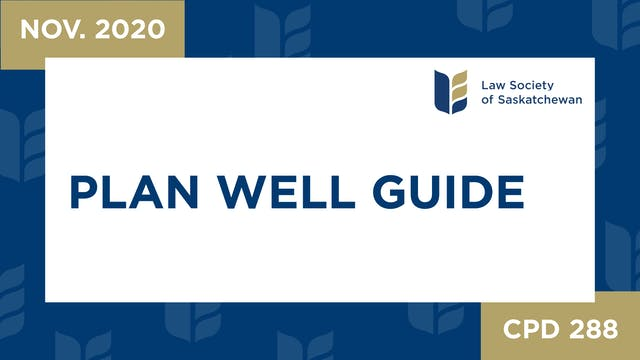 CPD 288 - Plan Well Guide: A tool to ...