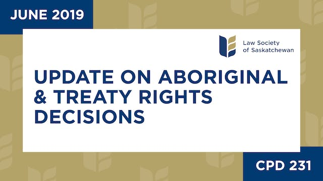 CPD 231 - Update on Aboriginal and Tr...