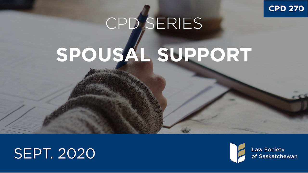 CPD 270 - Spousal Support Series