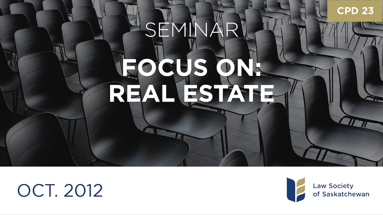 CPD 23 - Focus on Real Estate