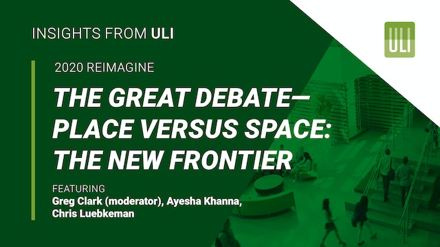 The Great Debate – Place Versus Space: The New Frontier