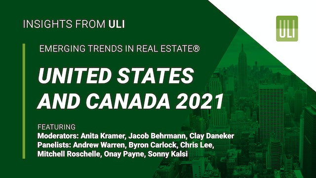 Emerging Trends in Real Estate® United States and Canada 2021