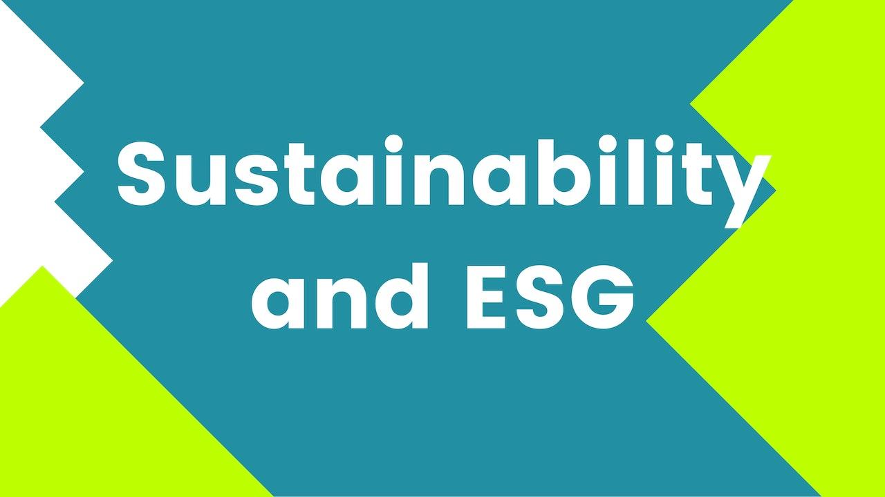 Sustainability and ESG