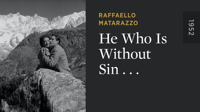 He Who Is Without Sin . . .