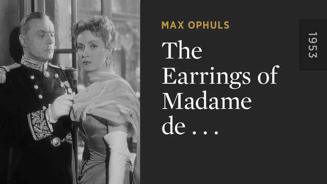 The Earrings of Madame de . . .