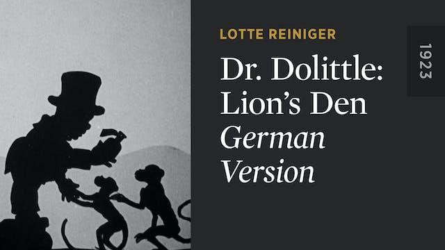 DR. DOLITTLE: LION'S DEN: German Version
