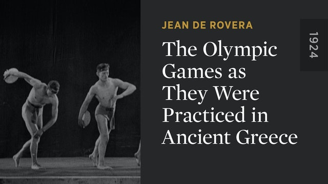 The Olympic Games as They Were Practiced in Ancient Greece