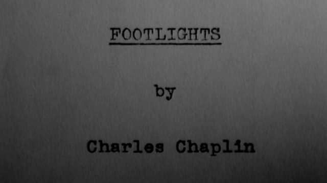 "Charlie Chaplin Reads from ""Footlights"""