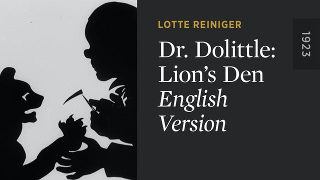 DR. DOLITTLE: LION'S DEN: English Ver...