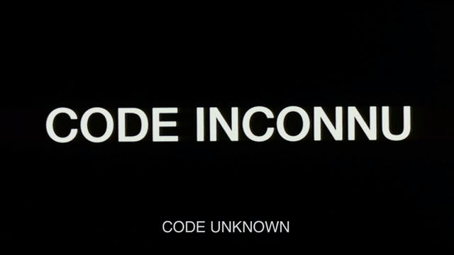 CODE UNKNOWN Teaser Trailer 2