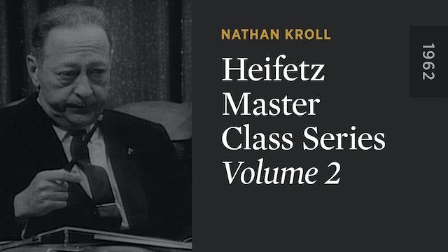 HEIFETZ MASTER CLASS SERIES: Volume 2