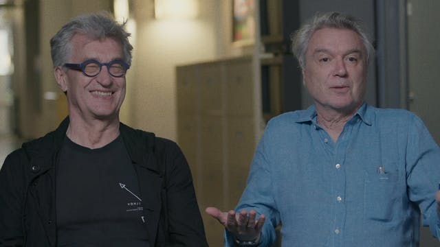 Wim Wenders and David Byrne