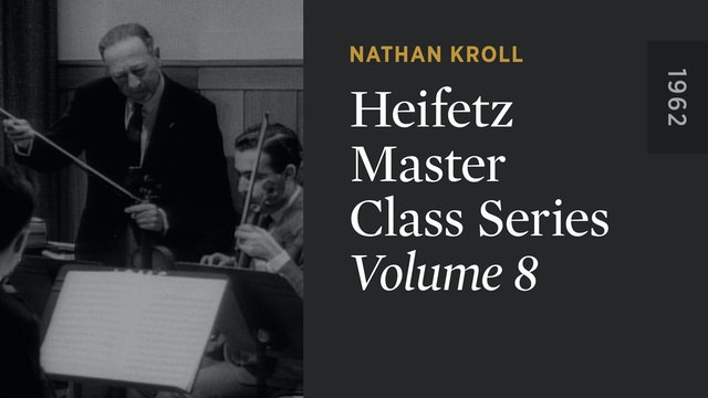 HEIFETZ MASTER CLASS SERIES: Volume 8