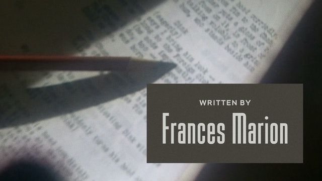 Written by Frances Marion Teaser