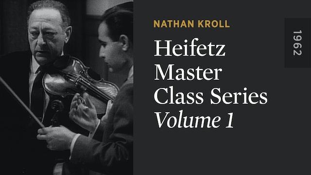 HEIFETZ MASTER CLASS SERIES: Volume 1