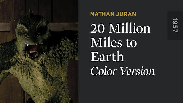 20 MILLION MILES TO EARTH (Color)