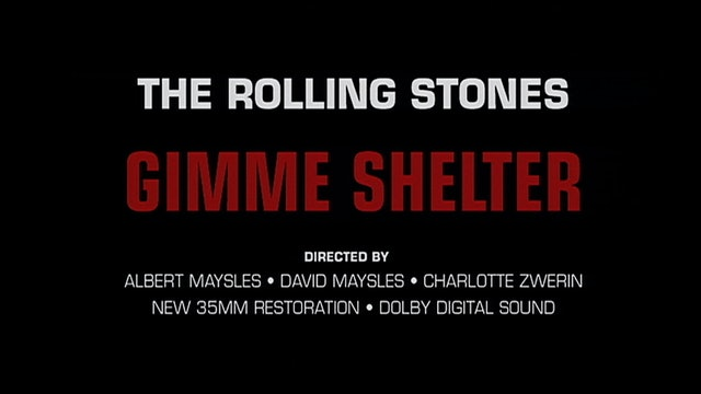 GIMME SHELTER Rerelease Trailer