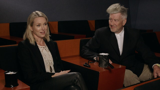 David Lynch and Naomi Watts on MULHOLLAND DR.
