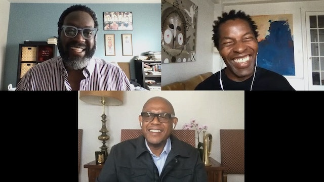 Forest Whitaker, Isaach De Bankolé, and Michael Gillespie on GHOST DOG