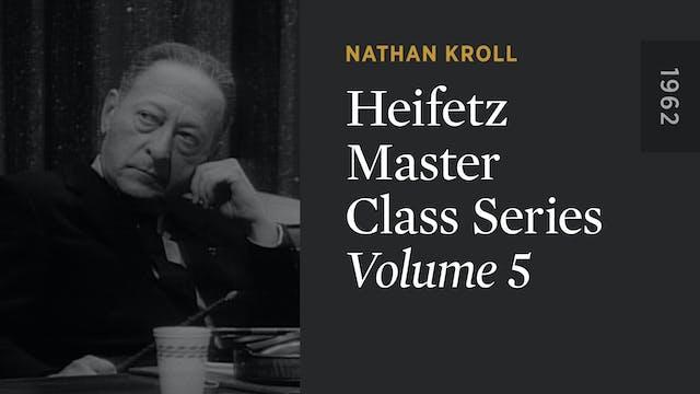 HEIFETZ MASTER CLASS SERIES: Volume 5