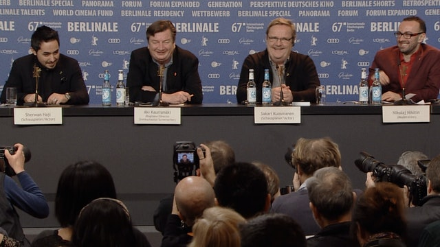Aki Kaurismäki on THE OTHER SIDE OF HOPE at the Berlin Film Festival