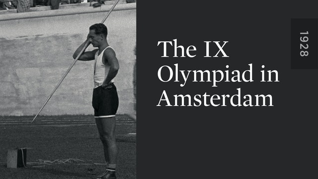 The IX Olympiad in Amsterdam