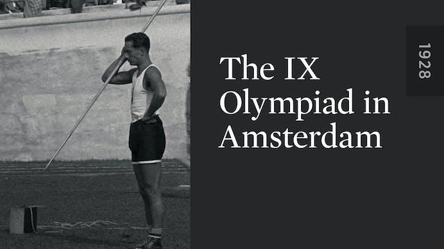 The IX Olympiad in Amsterdam
