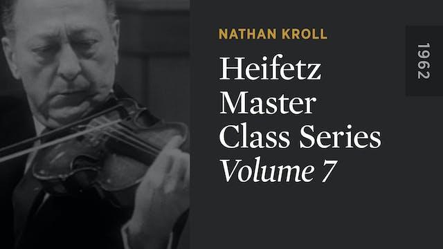 HEIFETZ MASTER CLASS SERIES: Volume 7