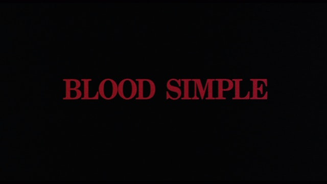 BLOOD SIMPLE Fund-Raising Trailer