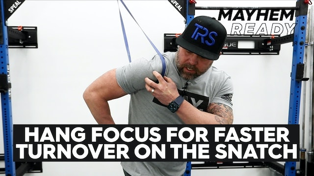 Faster Turnover On the Snatch
