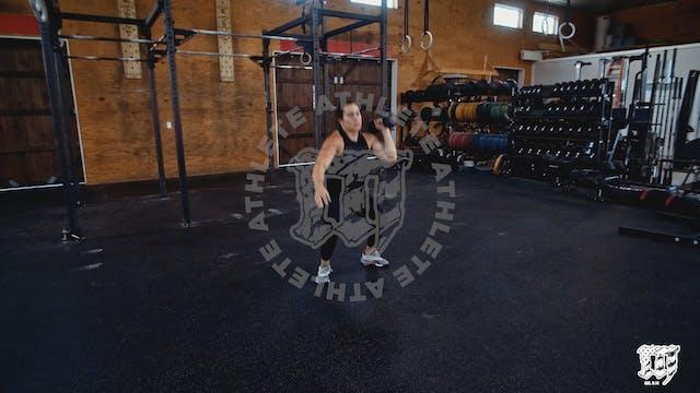 Single Arm DB Hang Squat Clean