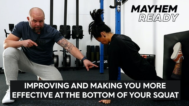 Improving & Making You More Effective at the Bottom of Your Squat