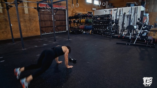 Dumbbell Facing Burpee Over DB