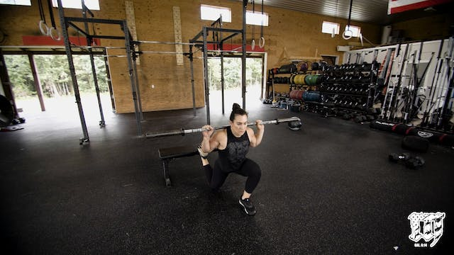 Back Rack Bulgarian Split Squat