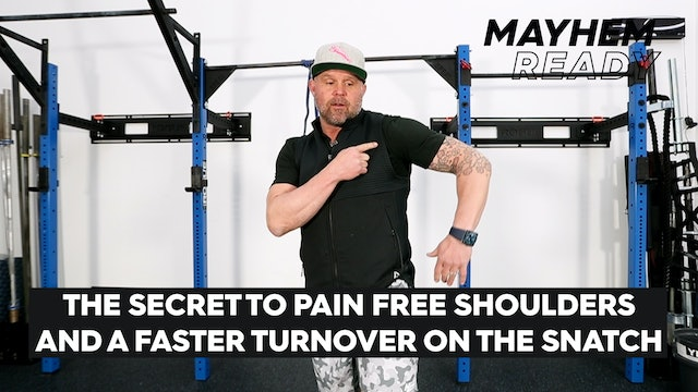 The Secret To Pain Free Shoulders & Faster TurnoverOn The Snatch