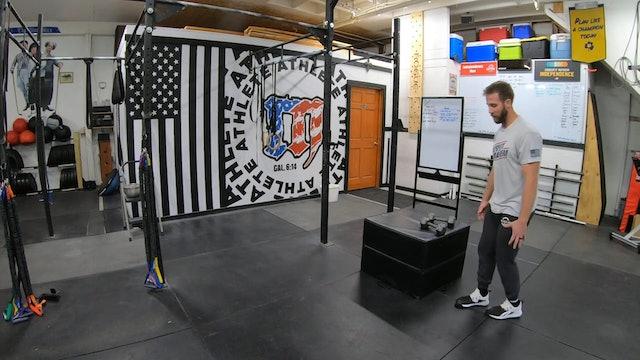 Coaching Dumbbell Box Step Ups