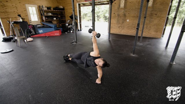 Side Plank DB Raise