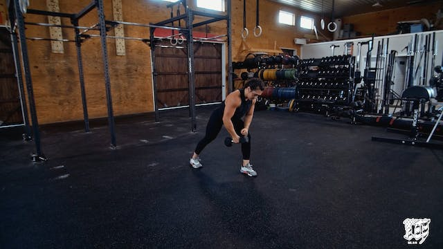Single Arm DB Bent Over Row