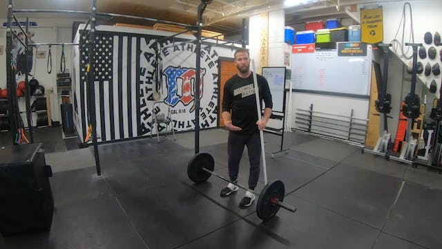 Coaching Hang Power Cleans