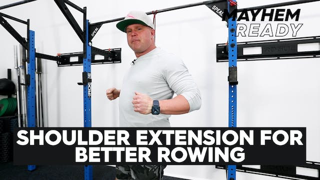 Shoulder Extension For Better Rowing