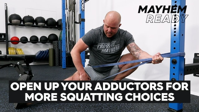 Open Up Your Adductors For Squatting