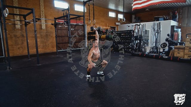 DB Overhead Squat