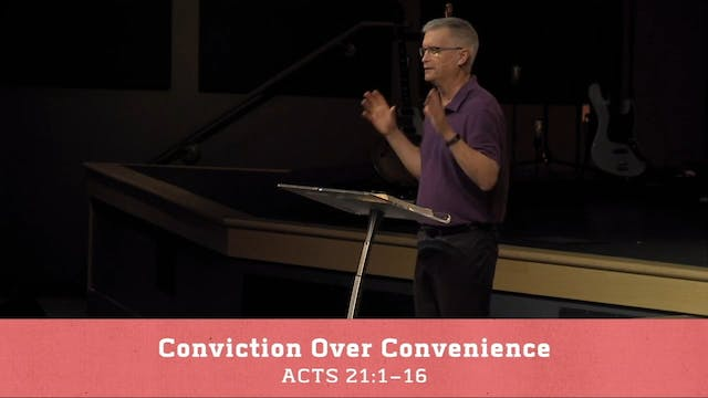 Hope Bible Church | Conviction Over C...